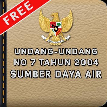 UU Sumber Daya Air poster