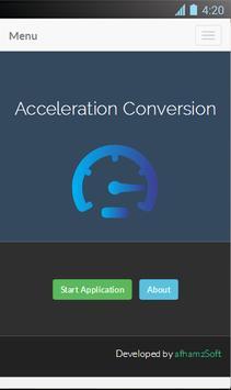 Acceleration Conversion screenshot 1