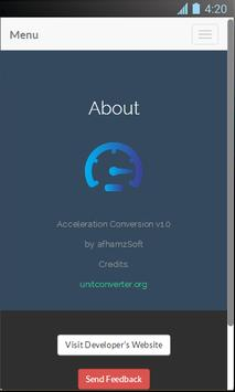 Acceleration Conversion screenshot 3