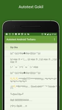 Autotext Android Terbaru apk screenshot
