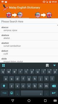Malay English Dictionary apk screenshot