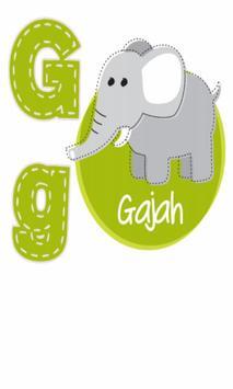 FlashCard Indonesia: Abjad poster