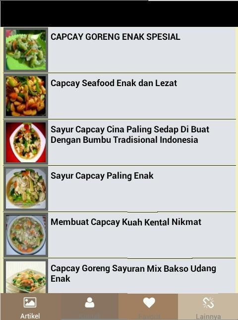 Aneka Resep Capcay For Android Apk Download