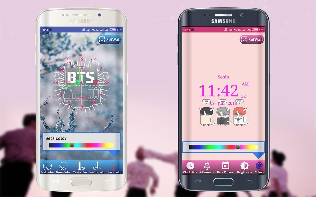 Bts Clock Live Wallpaper For Android Apk Download Aplikasi wallpaper bts bergerak
