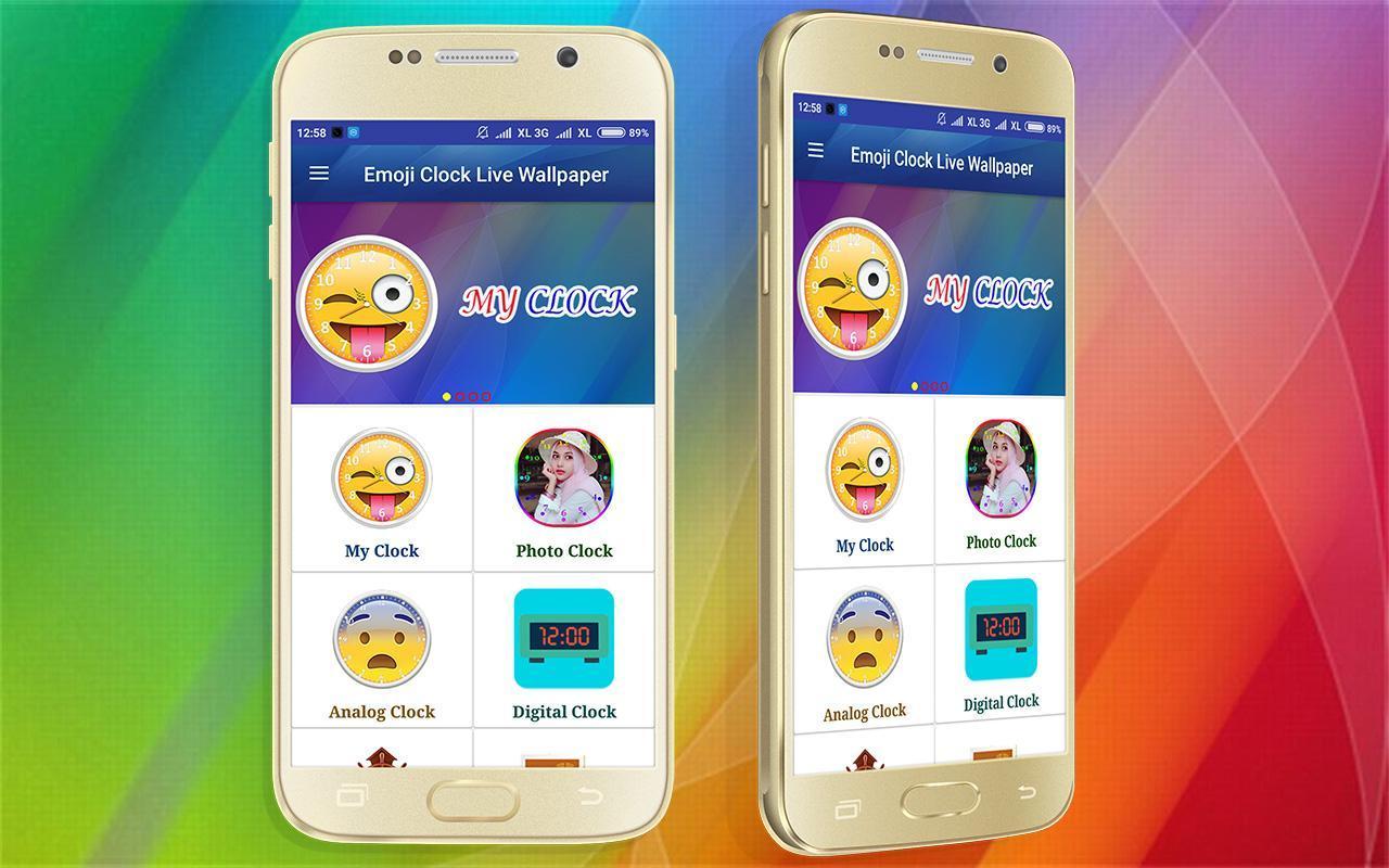 ... Emoji Clock Wallpaper Live screenshot 5 ...