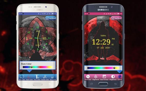 Sharingan Clock Live Wallpaper screenshot 4