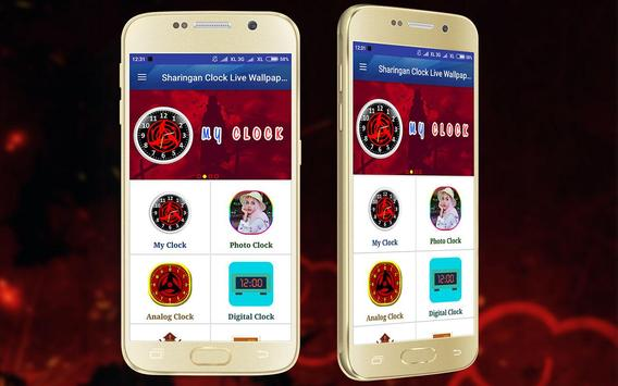 Sharingan Clock Live Wallpaper screenshot 6