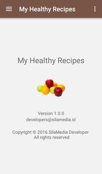 My Healthy Recipes apk screenshot
