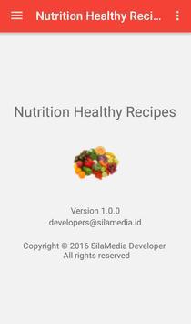 Nutrition healthy recipes apk screenshot