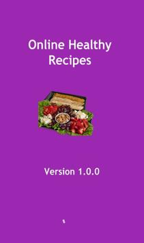 Online healthy recipes poster