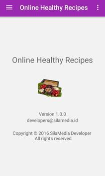 Online healthy recipes apk screenshot