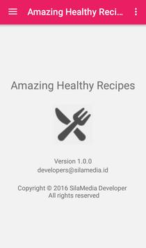 Amazing Healthy Recipes apk screenshot
