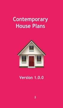 Contemporary house plans poster