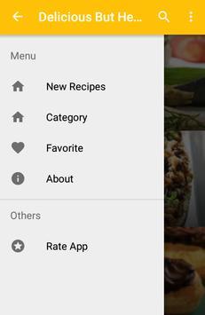 Delicious But Healthy Recipes screenshot 1
