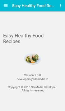 Easy Healthy Food Recipes apk screenshot