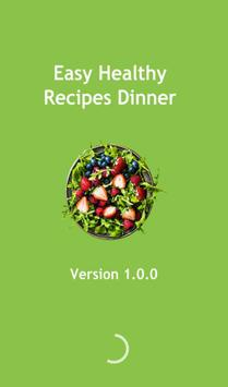 Easy Healthy Recipes Dinner poster