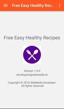 Free Easy Healthy Recipes apk screenshot