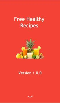Free healthy recipes poster