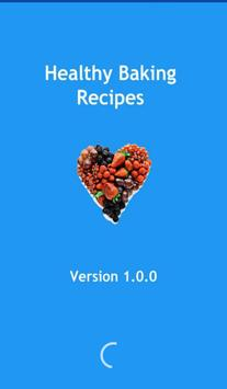 Healthy baking recipes poster