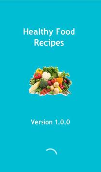 Healthy food recipes poster