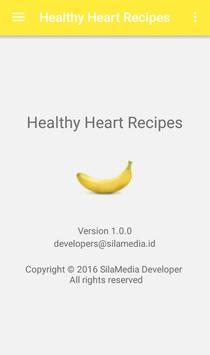 Healthy heart recipes apk screenshot