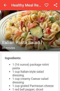 Healthy Meal Recipes apk screenshot