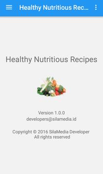 Healthy nutritious recipes apk screenshot