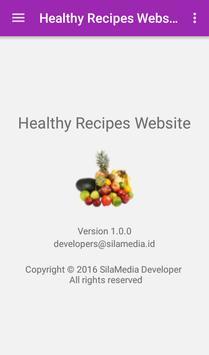 Healthy Recipes Website apk screenshot