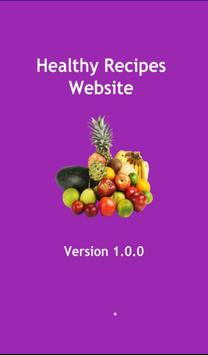 Healthy Recipes Website poster