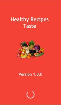 Healthy Recipes Taste poster