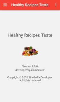 Healthy Recipes Taste apk screenshot