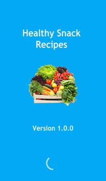Healthy snack recipes poster