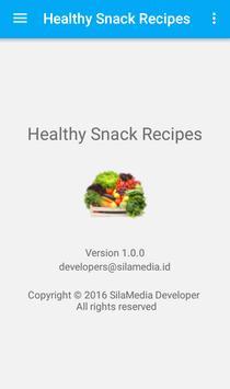 Healthy snack recipes apk screenshot