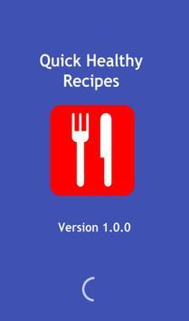 Quick healthy recipes poster