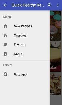 Quick healthy recipes screenshot 1