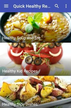 Quick healthy recipes screenshot 2