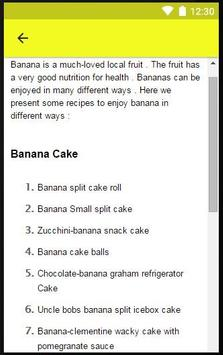 Recipes Banana apk screenshot
