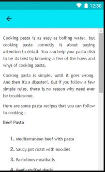 Recipes Pasta screenshot 7