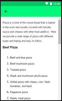 Recipes Pizza apk screenshot