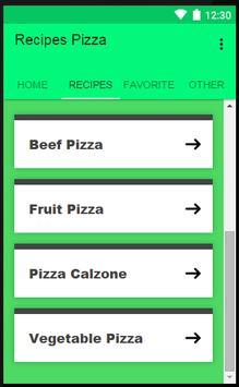 Recipes Pizza screenshot 1