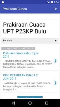 Info Cuaca P2SKP Bulu poster