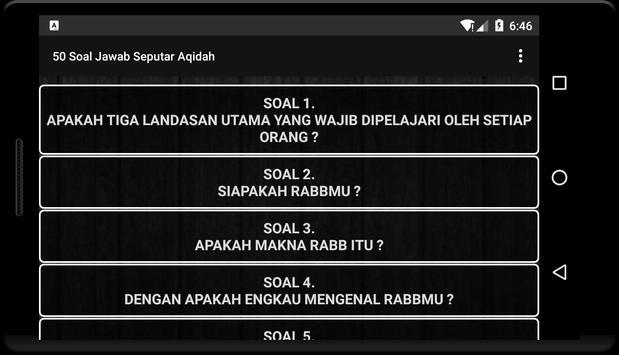 50 Tanya Jawab Seputar Aqidah screenshot 1