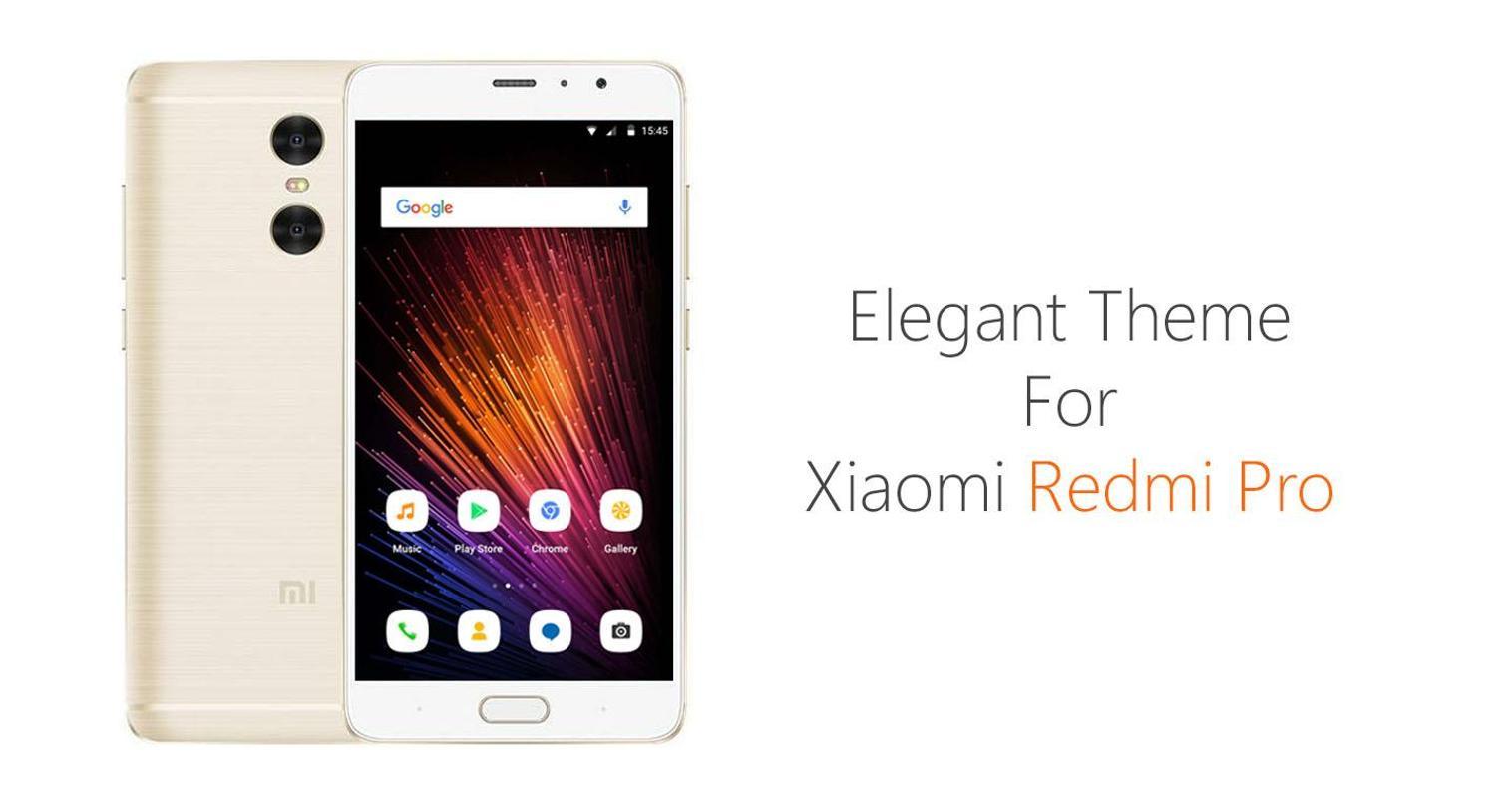 Theme Xiaomi Redmi Pro/Note3 Para Android