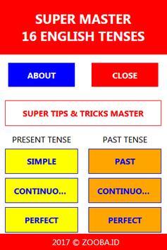 Master 16 English Tenses poster