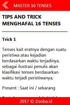 Master 16 English Tenses screenshot 1