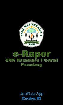 eRapor SMK Nusantara 1 Comal poster