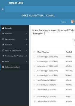 eRapor SMK Nusantara 1 Comal apk screenshot