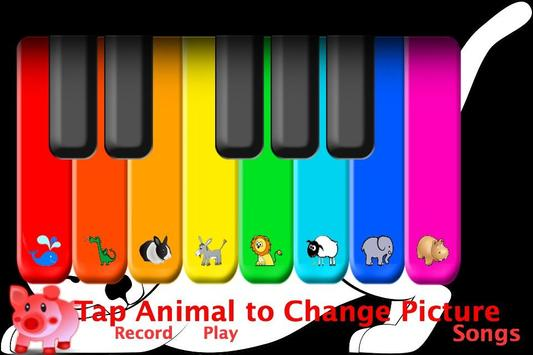 Piano -Animal Wallpaper poster