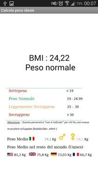 Calcola peso Ideale ( IMC ) apk screenshot