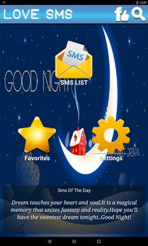 Good Night Love SMS poster